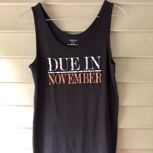 Motherhood Maternity Due in November Black Tank LG